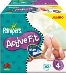 Pampers Active Fit Size 3 (7.20 for 84 Nappies) ,Size 4 (14.40 for 136),Size 5 (14.40 for 124) @ AMAZON Subscribe & Save