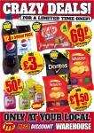 12x500ml pepsi/diet pepsi £3.60 per case @jtf