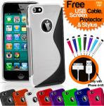 iPhone 4/4S/5 Silicone Gel S-Line Series Case - FREE USB Cable, Screen Protector & Mini Stylus - 11 Colours - 99p Delivered @cre8media/eBay