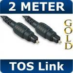 2M Metre Digital Fibre Optical Audio Toslink SPDIF Gold Cable Lead Plug 5mm £1.98 @ ebay techwaregames