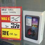 iPod Classic 160GB 6th Generation £139.30 in store @Xtravision Carrickfergus