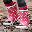 Spotty Otter Kids Wellies £12 @ Little Trekkers, usually £25.99