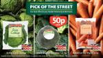 Pick of the street British Savoy cabbage/Broccoli/Carrots/Mushrooms/Iceberg lettuce  - All 50p @ Morrisons