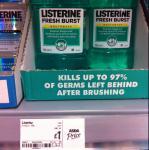 Listerine Fresh Burst 500ml Mouthwash £1.00 @ Asda