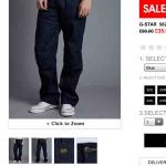 G Star Jeans - £35 @ bank