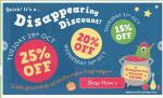 Frugi disappearing discount - 25% off today, 20% on 30th Oct, 15% on 31st
