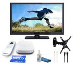 """JVC LED 24"""" TV. Built in DVD Player, Wall Bracket, AND Now TV smart box sports bundle £168.99 @Currys (Christmas present)"""