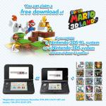 Register a Nintendo 3DS or Nintendo 3DS XL system and one of 15 games to get a free Super Mario 3D Land download