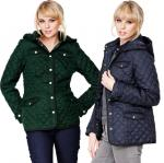 Littlewoods Clearance Petite Green or Navy Quilted Jacket - £14.99 free delivery