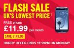 Samsung Galaxy S3 flash sale @ carphone warehouse 11.99/m total £287 possible £35 quidco