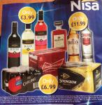 Nisa deals from 9th Dec - Disaronno/Smirnoff/Bells £11.99 Strongbow/Bud/Carling £6.99