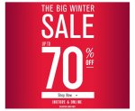 The Big Winter Sale. Up to 70% off @ Miss Selfridge with additional 10% off and 5.25% Cashback
