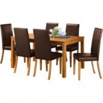 Hampton 150cm Oak Stain Table & 6 Chocolate Midback Chairs was £499.99 @ Argos