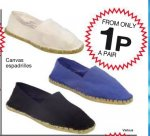 Espadrilles From 1p ! @ JTF Mega Discount Warehouse