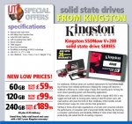 Kingston SSD 60GB £59.95 120GB £99.95 240GB £189.95 + £3.99 Delivery @ ijtdirect