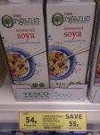 Tesco Organic Long life Soya milk, 1 Ltr 54p @ Tesco