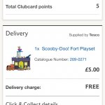 Scooby doo fort play set £5.00 Tesco Direct