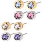 Set of 4 Swarovski crystal stud earrings £9.99 @ PRICE DROP TV