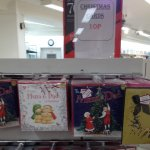 Christmas cards and wrapping paper 10p at Marks and Spencer