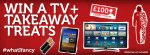 Win a  40 INCH SMART TV, a SAMSUNG GALAXY TABLET, £100 in JUST EAT VOUCHERS, TAKE ME OUT GOODIES and TWO AWESOME ONESIES @ Just Eat