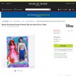 Disney Princess Ariel & Prince Eric dolls £9.99 for the pair @ house of fraser