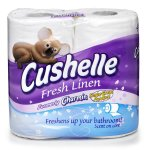 Cushelle Scented Core Cushiony Soft Toilet Tissue Rolls White x 4 £1.50 @ Wilko