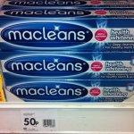 Macleans Health Whitening Deep Clean Toothpaste 100ml just 50p @ Wilkinsons in store