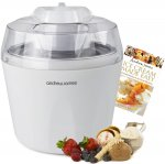 Andrew James Ice Cream, Sorbet and Frozen Yoghurt Maker Machine 1.45 Litre + 128 Page Recipe Book - £27.98 Sold By Andrew James @ Amazon