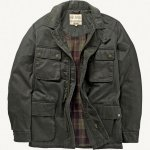 FAT FACE Olive Wax Utility Jacket OVER 45% OFF £50