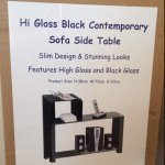 Hi Gloss Sofa Side Table £9.99 Instore @ Home Bargains