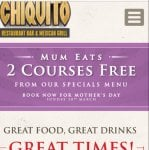 Chiquitos - Mums Eat Free on Mothers Day