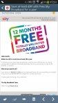 Free Sky broadband for 12 months - existing customers!