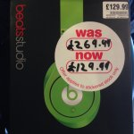 Beats By Dre Monster Studio Headphones reduced from £269 to £129 in HMV Cambridge