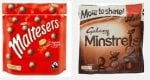 Maltesers & Minstrels Pouches only 65p @ Heron Foods