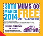 Knowsley Safari Park - Free for mums on Mother's Day with a full paying child