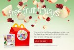 Free Fruit Bag When You Buy A Happy Meal (EVERY FIRST FRIDAY OF EVERY MONTH) @ McDonalds :)