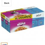 Whiskas fish sachets bumper 48x100g jelly - Amazon best price £9 (free delivery £10 spend/prime/locker)