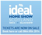 2 free tickets to Ideal Home Show Scotland @ SECC on 23 or 26 May with Premium Benefits