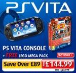 PlayStation Vita SLIM Console (PCH - 2003) Plus FREE LEGO Mega Pack £144.99 instore @ Smyths