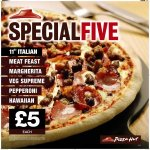 £5.00 Pizzas and sides extended until 20 Apr @ Pizza Hut (Collection & Delivery)