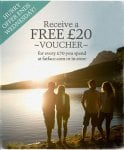 Spend £70 in store or online and receive a £20 voucher to use in June @ fatface