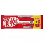 Nestle KIT KAT 2 Finger 5+3 Free (8 Pack) Was £1 Now 89p @ Poundstretcher (Instore)