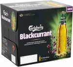 Carlsberg Blackcurrant, 12 x 275ml, £4.99, B&M.