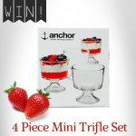 Win A  lovely 4 Piece Mini Trifle Dish Set @ Viners ( FB)