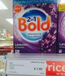 Bold washing powder £1.50 Iceland