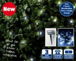 50 LED Solar String Lights Includes 1.2V 600mAH rechargeable Ni-MH battery On/off switch from 25th May £3.99 at Aldi