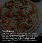 40% off at Pizza Express