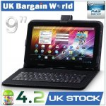 9 Inch Capacitive A23 Dual Core Google Android 4.2 Tablet PC 8GB Keyboard Bundle Only £49.99 @ Ebay uk_bargain_world