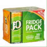 J2O Orange & Passion Fruit 6 x 250ml cans - £1.50 @ Wilko