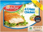 Birds Eye Crispy Chicken (53% Chicken Breast) (4 per pack - 340g) was £3.25 now £1.62 @ Sainsbury's